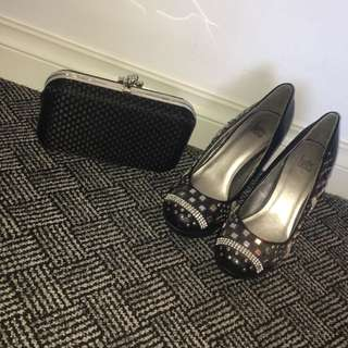 Gorgeous Sz 8 Betts Pumps And Clutch Bag