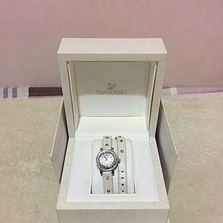 施華洛世奇 白色雙環手錶