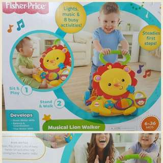 BNIB Fisher Price - Musical Lion Walker