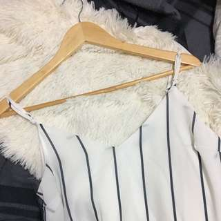 Cotton On Margot White And Blue Stripes Size XS