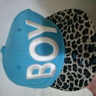 豹紋boy帽子