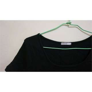 🚚 螺紋黑色短袖上衣