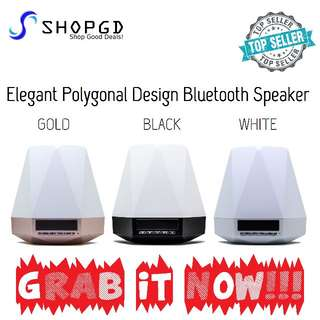 🔥🔥🔥Excellent Sound With Good Bass. Elegant Polygonal Design Bluetooth Speaker with Clock Display