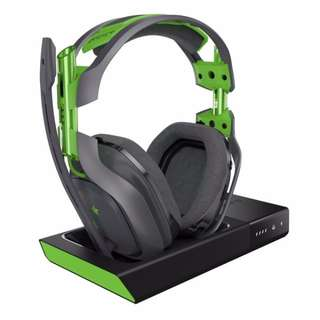 Astro A50 Wireless Headset Gen 3 + Base Station (Grey/Green) for Xbox, PC & Mac