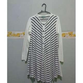 stripes mididress by Hijabchic