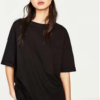 Oversized Zara Silk T-shirt Dress