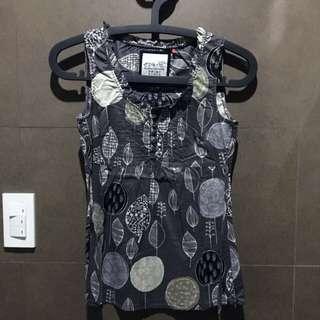 Esprit Gray Printed Sleeveless Top
