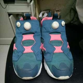 Reebok Pump 和平鴿 藍粉配色 10.5號