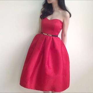 Red Dress (exclude belt)