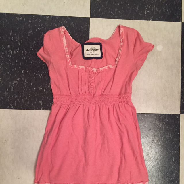 Abercrombie pink flow top