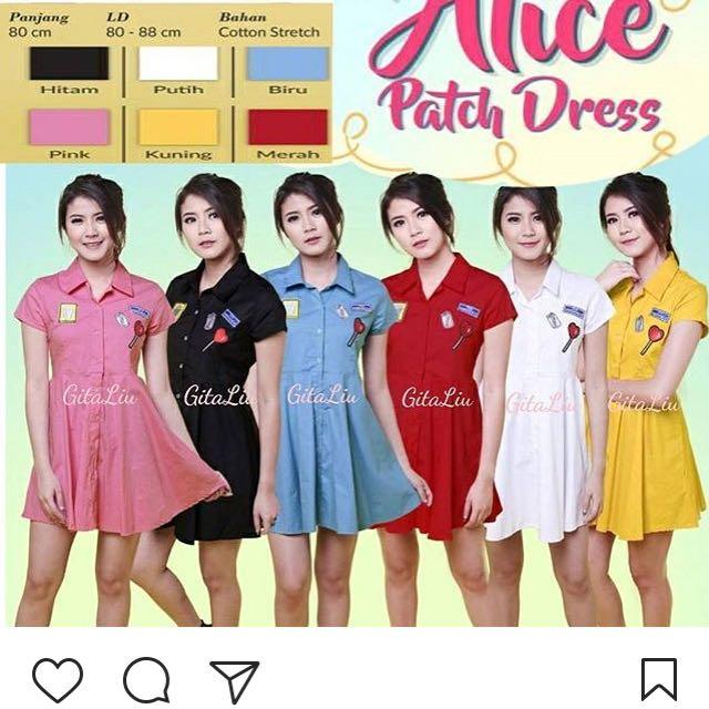 Alice patch dress