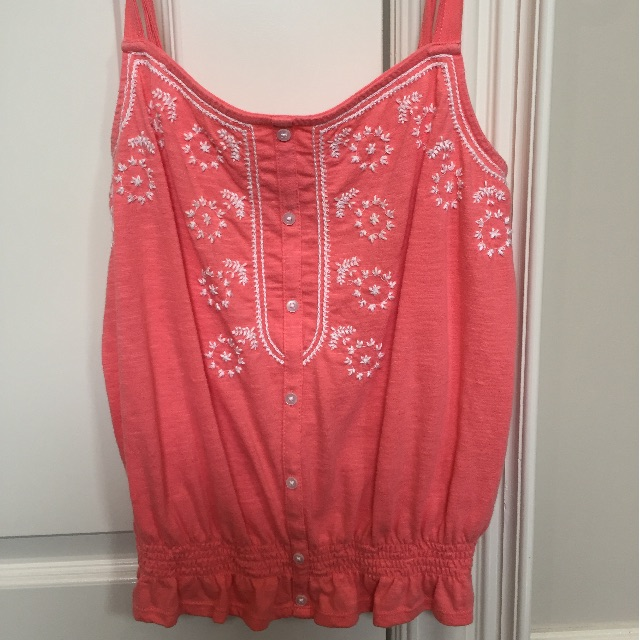 American Eagle embroidered top in pink