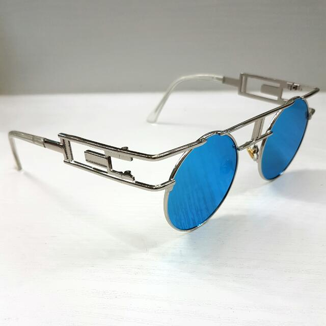Aqua Steampunk Polarized Sunglasses