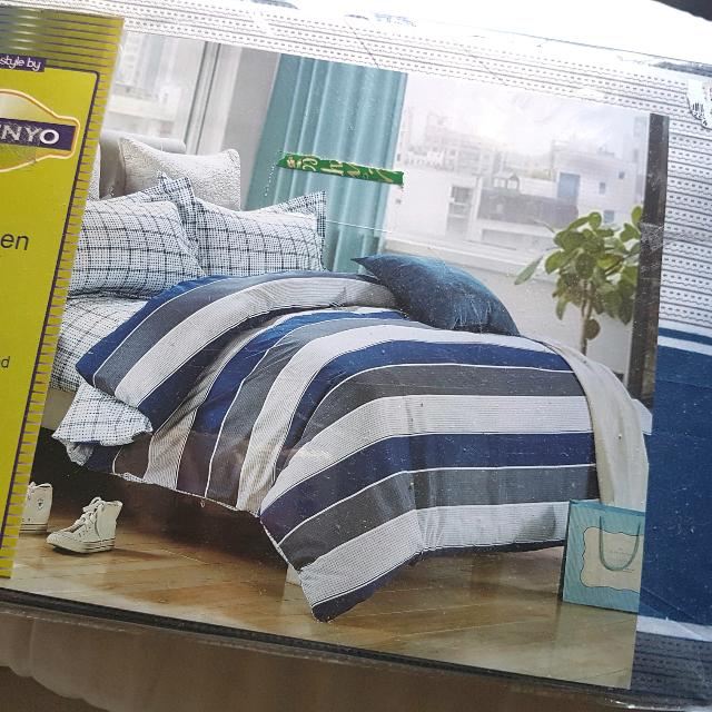 BNEW Bed cover double full fitted sheet 2 pillow case