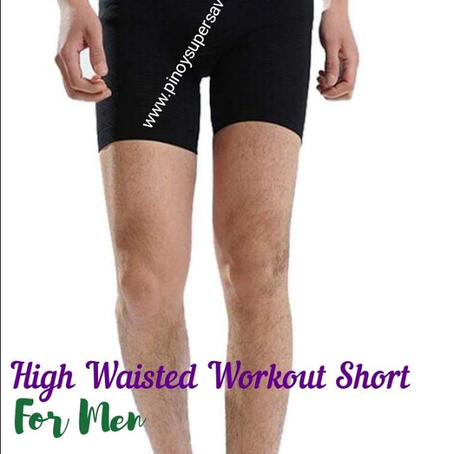 Black High Waisted Workout Shorts For Men