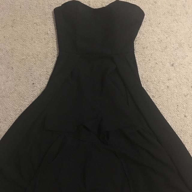 Black Size 6  Playsuit With Cape