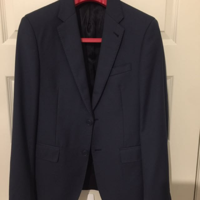 Men's Blue Brooksfield Slim Fit Suit