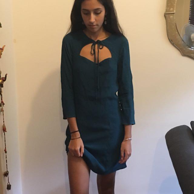 Blue Long-Sleeve Dress