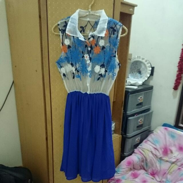 Blue Party Dress Unik