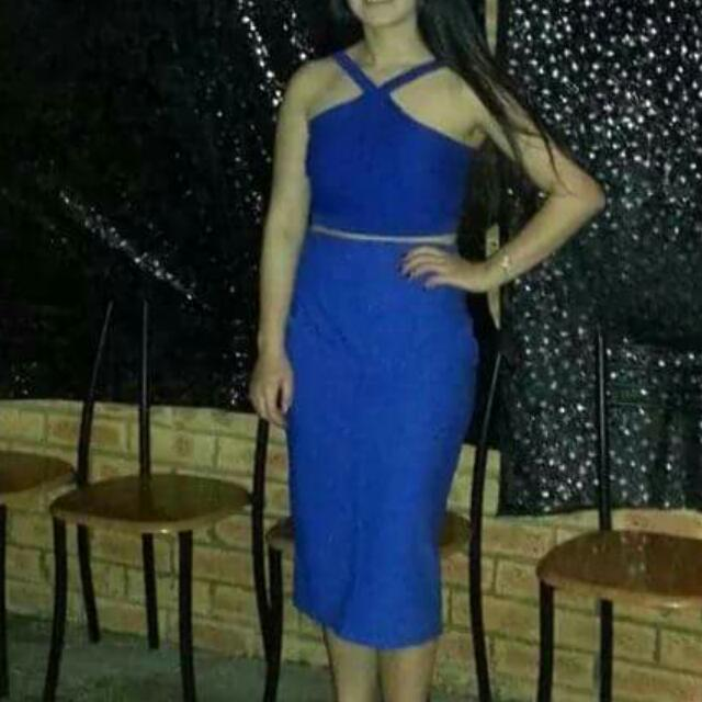 Blue Top And Skirt Set