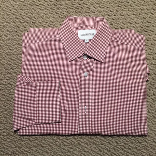 Brookfield Shirt Size 38 - Red Checkered