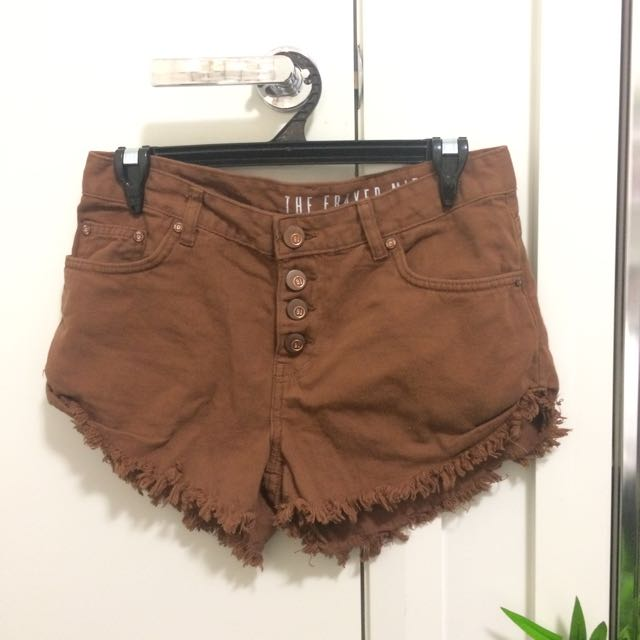 Brown cotton-on denim shorts