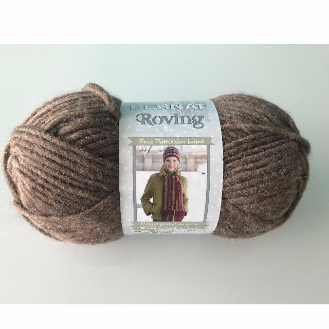 Brown Super Soft Bernat Acrylic And Wool Yarn - Chunky Style
