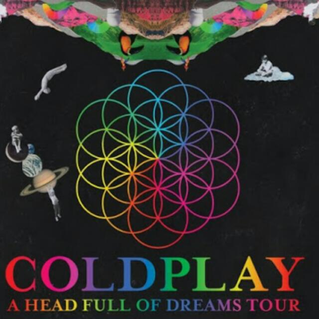 Coldplay A Head Full Of Dreams Concert Ticket