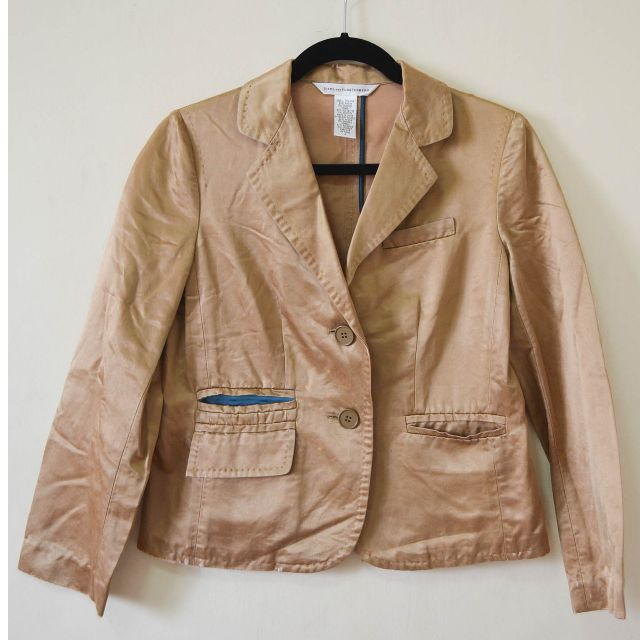 Diane von Furstenberg Brown Silk Jacket Size 2