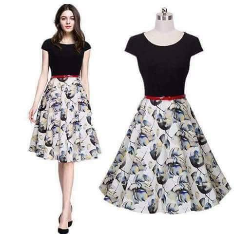 REPRICED Vintage Retro High-Waist Slim Dress