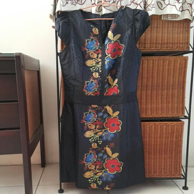 Esye Blue Printed Dress