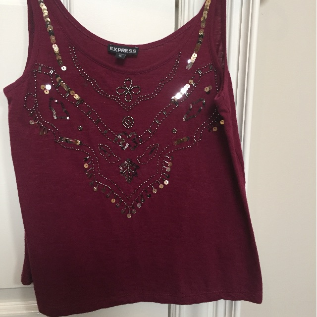 Express sequinned top