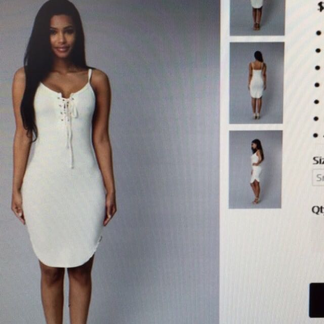 Fashionova White Tank Dress