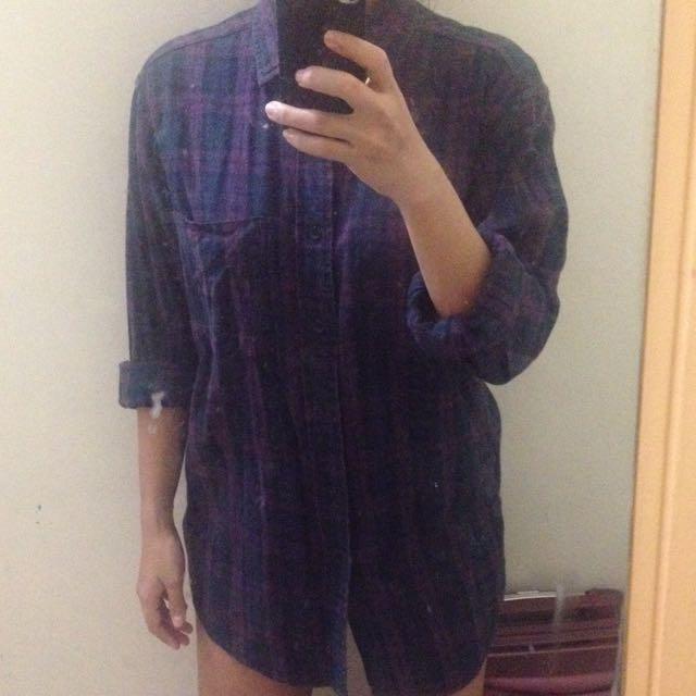 Flannel Shirt Kemeja Original
