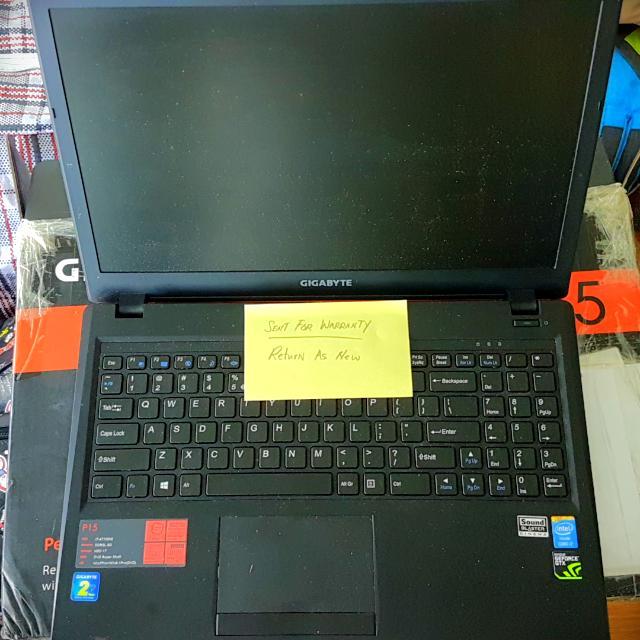 Fresh i7 Gigabyte Laptop P15