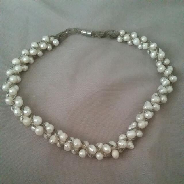 Genuine Fresh Water Pearl Necklace