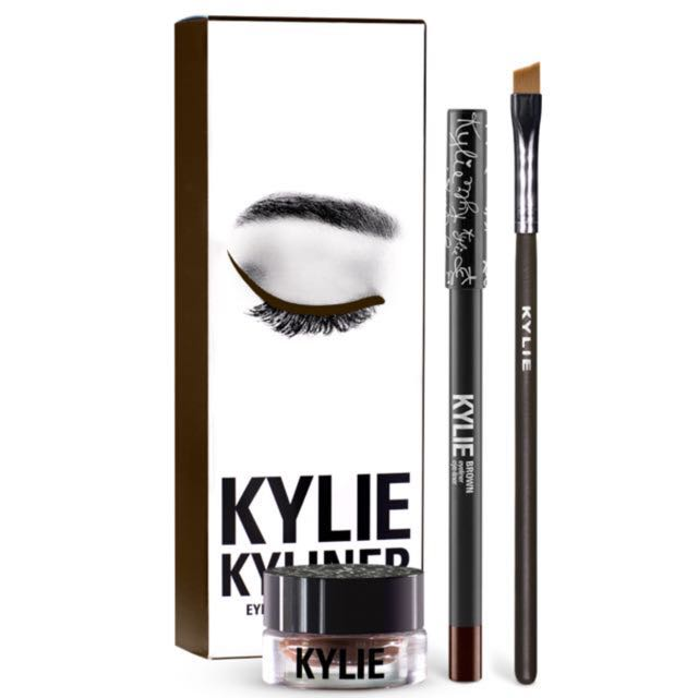 Kylie Cosmetics Kyliner In Brown - Gel Pot And Eyeliner - Can Be Used On Brows