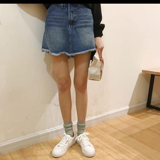 顯瘦牛仔褲裙L