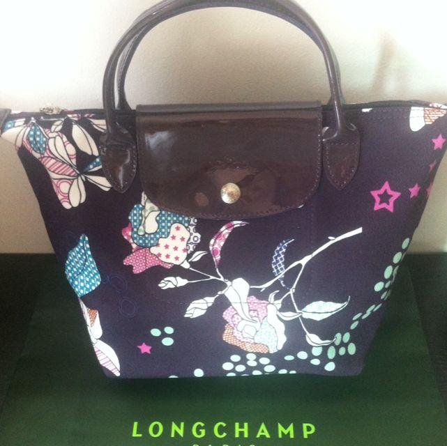 LongChamp Purple Flower Small Bag