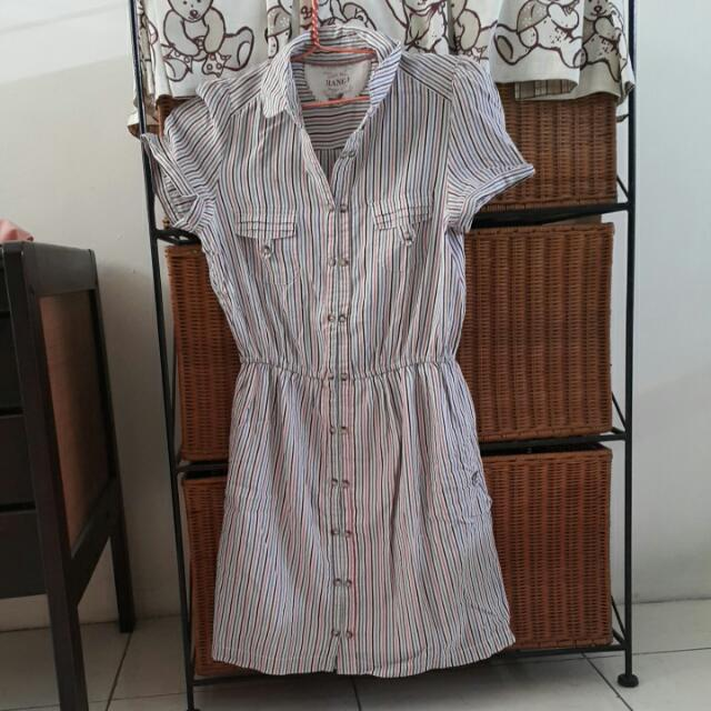 Mango Stripes Casual Dress