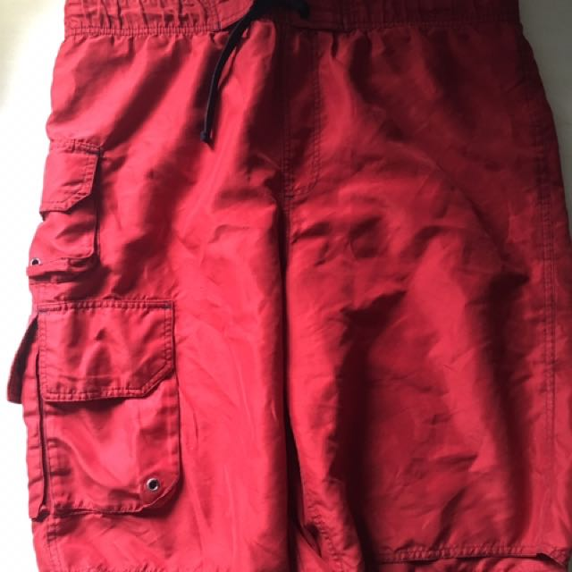 Men's Red Bathing Suit Size Small
