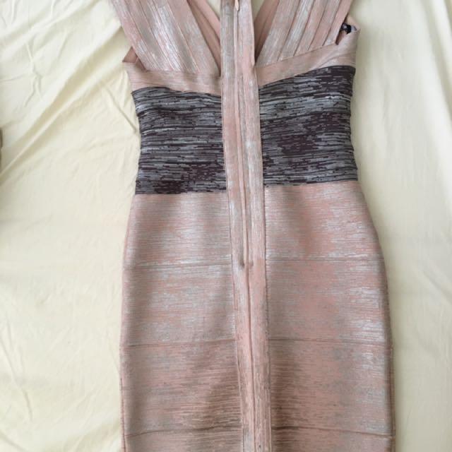 Metallic Pink Party Dress