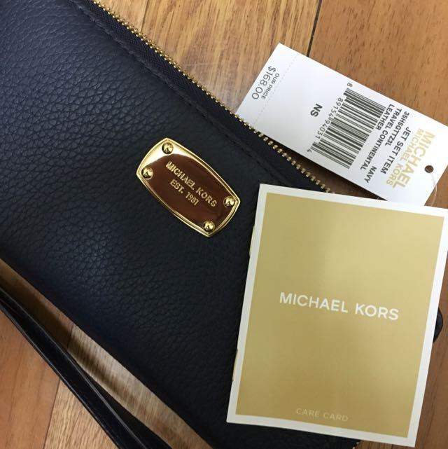(降價)MICHAEL KORS MK荔枝紋拉鍊長夾
