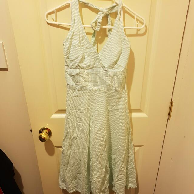 Mint And White Striped Marilyn Monroe Dress