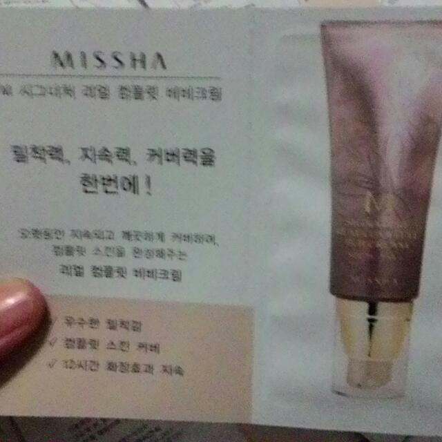 missha signature bb cream sampler