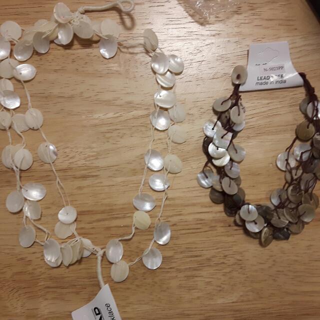 Necklaces. Bracelets