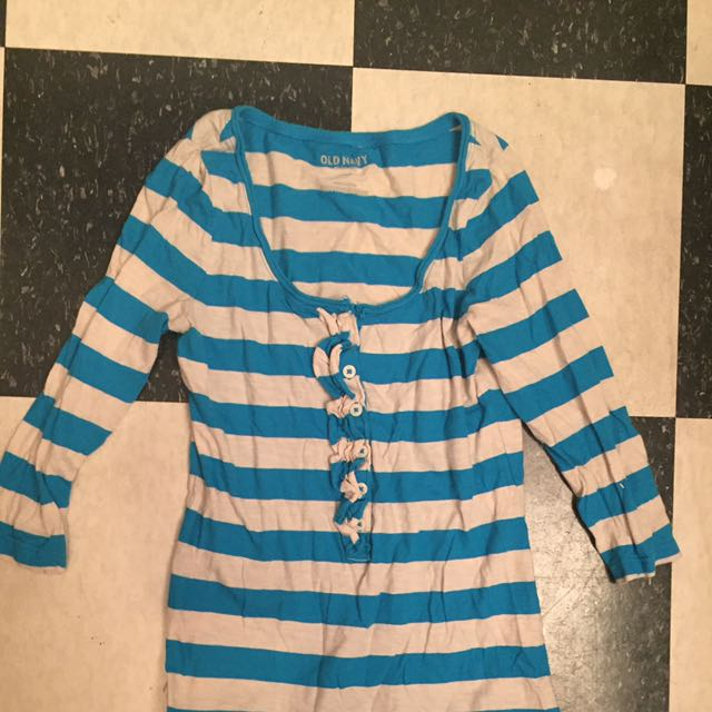 Old Navy Striped Blue Shirt