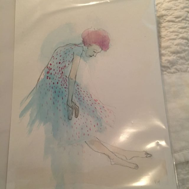 Original Artwork Watercolour Drawing By Vanessa McKernan