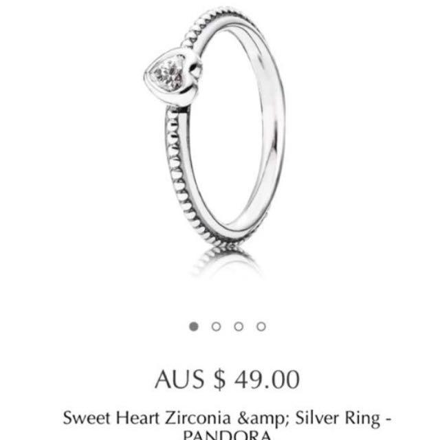 Pandora Heart Ring Size 54