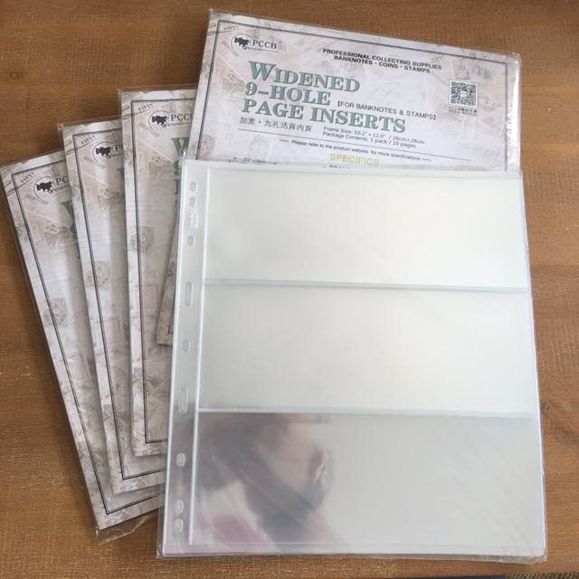 PCCB Banknote Refillable Sheets (10pcs)